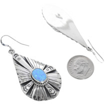 Sterling Silver Navajo Opal Earrings 33029