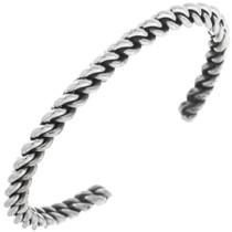 Navajo Twist Wire Sterling Silver Bracelet 33031