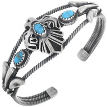 Old Pawn Style Turquoise Cuff Bracelet 33032