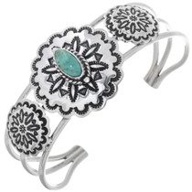 Turquoise Silver Concho Bracelet 33034
