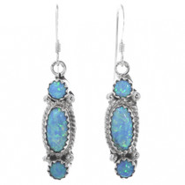 Sterling Silver Opal Earrings 33038
