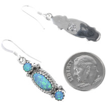 Navajo Opal Earrings Artist Signed 33038