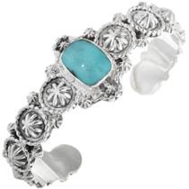 Navajo Turquoise Silver Starburst Bracelet 33041