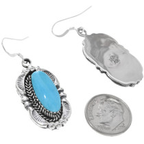 Sterling Turquoise French Hook Earrings  33046