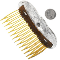 Hammered Silver Hair Comb 33048