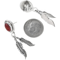 Navajo Feather Earrings 33050