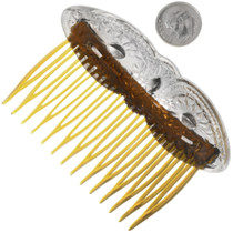 Hammered Sterling Hair Comb 33051