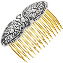 Navajo Sterling Hair Comb 33051