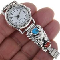Ladies Bracelet Watch Sterling Tips 33055