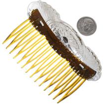 Navajo Hammered Silver Hair Comb