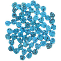 8mm x 6mm Oval Freeform Arizona Turquoise Cabochons 32729