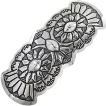 Navajo Pattern Sterling Hair Barrette 33071