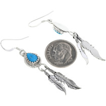 French Hook Silver Feather Earrings 33072