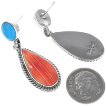Sterling Silver Post Dangle Earrings 33074