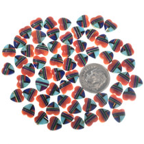 8mm Turquoise Heart Cabochons 32733