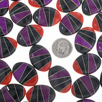 Southwest Inlay Cabochons Coral Sugilite Onyx 32734
