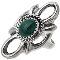 Malachite Silver Ladies Ring 33081