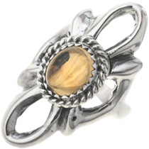 Ladies Citrine Silver Navajo Ring 33083
