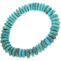Genuine Turquoise Bead Stretch Bracelet 33088