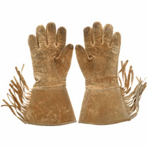 Brain Tanned Leather Native American Gloves 33091