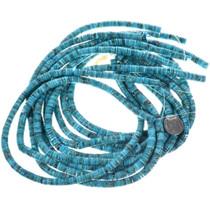 Real Turquoise Heishi Bead Strand 31953