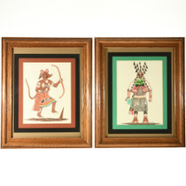Vintage Hopi Kachina Drawings 33094