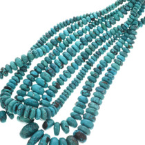 Spiderweb Turquoise Graduated Rondelle Beads 31958