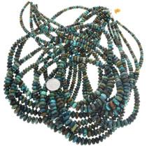 Native Corn Turquoise Beads Graduated Rondelles 31959