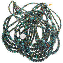 Native Corn Turquoise Beads Graduated Rondelles 31959