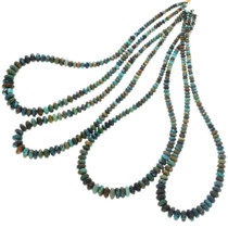 Genuine Turquoise Beads Graduated Strand 31959