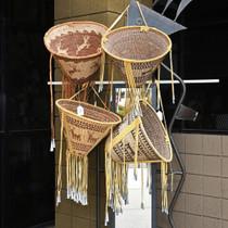 Deer Design Hand Woven Burden Basket 33096