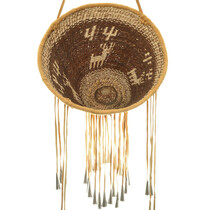 Figural Deer and Cactus Patterns Apache Basket 33097