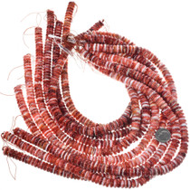 Red Spiny Oyster Shell Beads Rondelle 31963