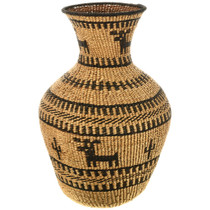 Large Figural Apache Olla Basket 33108