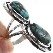 Kingman Turquoise Sterling Silver Ring 33117