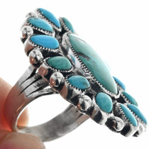 Natural Sleeping Beauty Navajo Sterling Silver Ring 33118