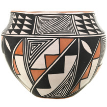 Hand Painted Polychrome Acoma Bowl 33127
