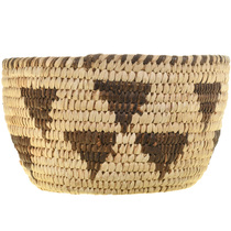 Papago Rain Pattern Hand Woven Basket 33132