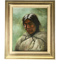Native American Oil Painting Framed 33134