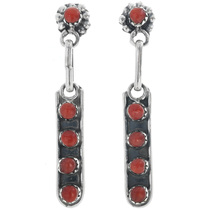 Rena Laate Zuni Coral Post Dangle Earrings 33138