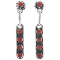 Rena Laate Zuni Coral Post Dangle Earrings 33138