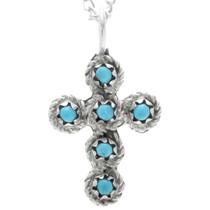 Turquoise Cross Pendant 33142