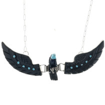 Carved Acoma Eagle Necklace 33144