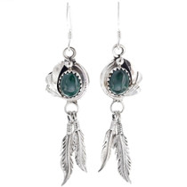 Navajo Made Malachite Earrings 33146