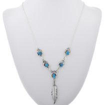 Sterling Silver Turquoise Necklace 33147