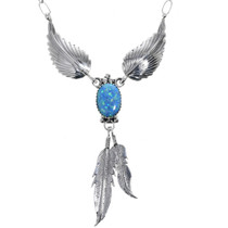 Navajo Opal Sterling Silver Necklace 33148