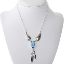 Opal Feather Navajo Necklace 33148
