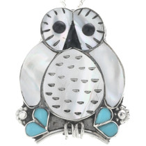 Zuni Inlay Owl Pendant 33149