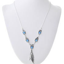 Sterling Silver Opal Navajo Necklace 33153