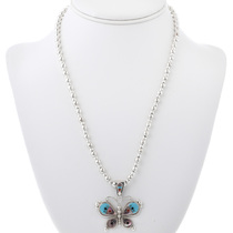 Sterling Silver Turquoise Butterfly Bracelet 33154